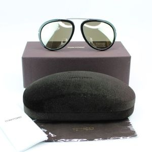 Tom Ford Stacy Sunglasses Brown Mirrored Lens